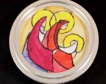 Pen and Water Color ornament