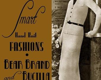 Bear Brand (98) c.1937 Chic Vintage Hand Knitting Fashion Patterns