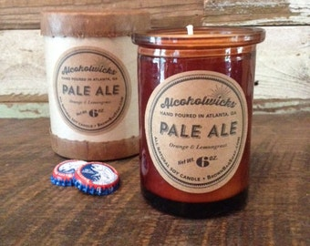 Pale Ale Candle- Beer Candle- Pale Ale by Alcoholwicks