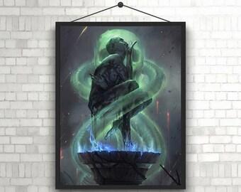 Harry Potter Voldemort Horror Art Unique Poster