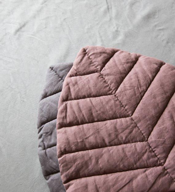 Leaf Play Mat Linen Nursery Mat Playmat Linen Baby Cover Rug