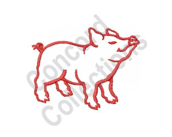 Pig Outline - Machine Embroidery Design