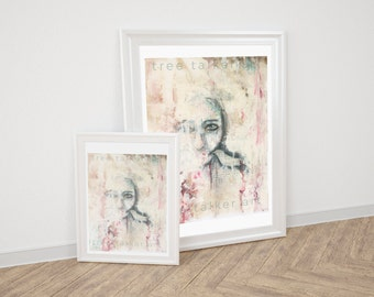 Giclee Art Print - Mixed Media Art Print - Portrait - Surrealism