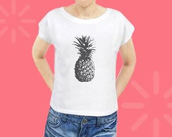 Pineapple shirt women graphic tee women shirt hipster tshirt slogan tee cool top funny graphic shirt tumblr top women crop top size S