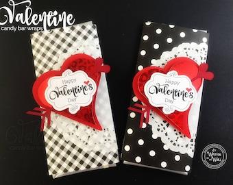 KIT Happy Valentine's Day Candy Bar Wraps / Co-Workers Treats / Teacher Appreciation / Hershey Bar /Employees Treats/ Classroom Treats