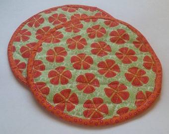 Orange Slice Potholders/Hotpads