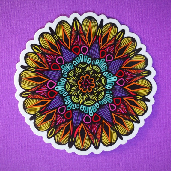 Colors of the Mandala Sticker (WATERPROOF)