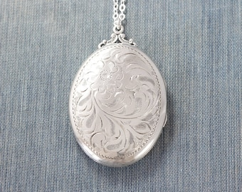 silver large steel or rose ldhy floating stainless etsy locket gold extra lockets il market