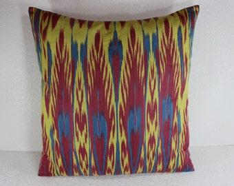 Cotton Ikat Pillow, Ikat Pillow Cover,  C102, Ikat throw pillows, Designer pillows, Decorative pillows, Accent pillows