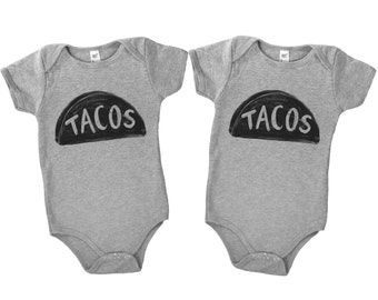 Funny Twins Onesies, Taco Twosday, Taco Baby, Twins Baby Outfit, Mother Gift, Baby Shower Gift, Twins Onesie Set, Unisex Twins Onesie, Twins