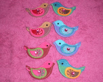 1 set of 2 birds in 3-d felt stickers
