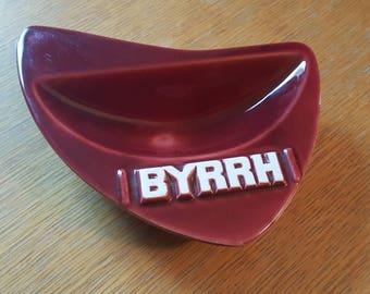 Burgundy Mid-Century Byrrh Ceramic Ash Tray