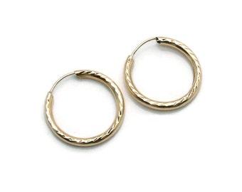 Diamond Cut Hoops, Gold Hoop Earrings, Hoop Earrings, Gold Hoops, Diamond Cut Earrings, 9ct Gold Hoops, Textured Hoops, Round Hoops