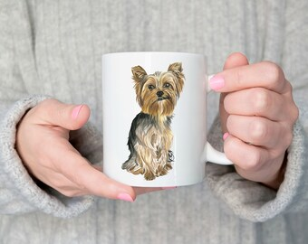 Yorkshire Terrier Mug, Yorkie Mug, Yorkshire Terrier Cup, Yorkshire Terrier Gifts, Dog Mug, Dog Gifts, Cute Dog Mug, Yorkie Gifts, Yorkie