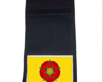 Red Rose of Lancashire Printed Ripper Wallet