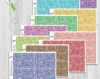 Glitter Headers- for the Erin Condren, Happy Planner or Big Happy Planner - Gemstone Collection - by Green Darner Designs