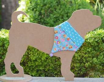 Scarf Bandana candy and chocolate dog or cat, reversible, cotton, exclusive design