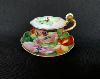 Demitasse Footed Tea Cup and Saucer | Occupied Japan