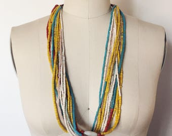 Vintage African Beaded Necklace