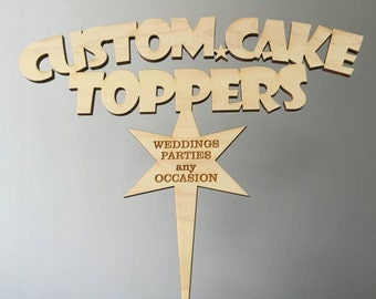 Acrylic/Timber Cake Toppers