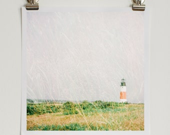 Double Exposure Nantucket Lighthouse, Fine Art Photography, Art Print