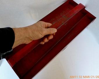 Vintage Red Tool Box Tray