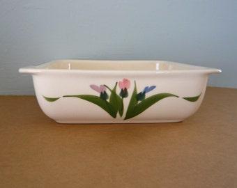 Baking Dish Clay Designs Hand Painted Stoneware