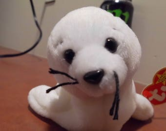 Ty Beanie Babies Seamore the White Seal
