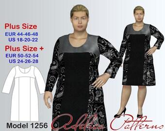 Plus size Dress Sewing Pattern PDF, Women's sizes 18-28, Dress PDF Instant Download Sewing Pattern