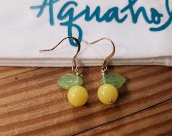 Vintage Lemon Berry Earrings
