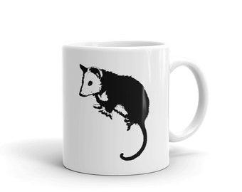 Possum Mug, Possum in Black and White, Possum, Opossum, Virginia Possum, Pet Possum, Mug