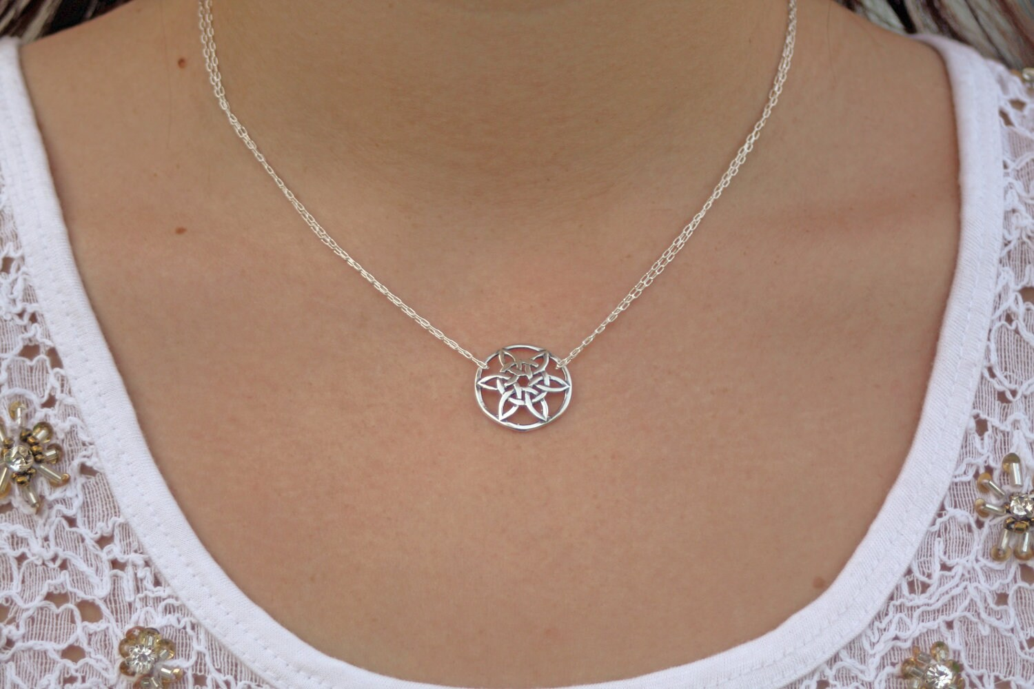 Domed celtic sun sterling silver celtic knot sunflower zoom biocorpaavc Images