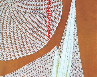 Baby Crochet Pattern PDF Vintage Lacy Shawls Circular and Square 3 ply and 4 ply