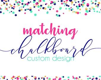 Custom Birthday Chalkboard Stats Poster Print
