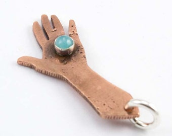 CS18 - Working with my Hands Charm by AbellaBlueStudio