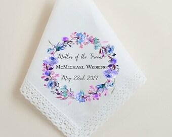 Mother of the Groom Handkerchief, Wedding Handkerchief, Custom Handkerchief, Handkerchief for the wedding party, Printed Hankie,  -24