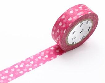 Pink Hearts Washi Tape • MT Masking Tape • MT ex Washi Tape • Washi Tape UK • Japanese Stationery • Heart Spot