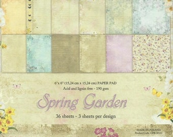 36 papers 15.2 x 15.2 cm Craft and you SPRING GARDEN
