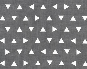 Half Yard -  Remix Scattered Triangles in Grey by Ann Kelle for Robert Kaufman - 1/2 yard