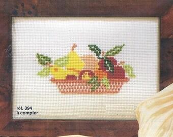 Princesse Cross Stitch Kit  394  Fruits basket