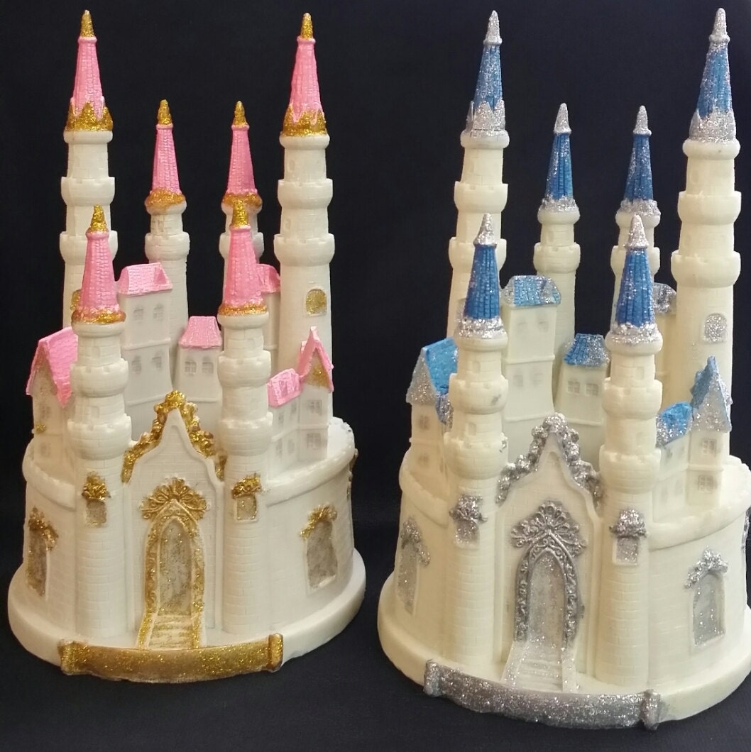 Princess Birthday Blue Castle Cake Topper Girl Birthday Castle