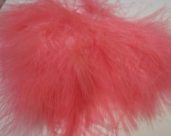 Shrimp Pink Marabou Feathers MRDQ-29 Craft feathers .25oz