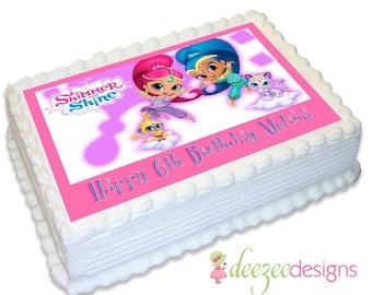 Shimmer & Shine A4 Edible Icing Cake Topper - EI101A4