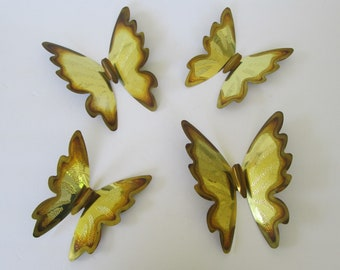 Butterfly Metal Wall Art - set of 4
