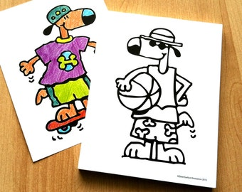 COLORING DOGGIES NOTEPAD for Kids!