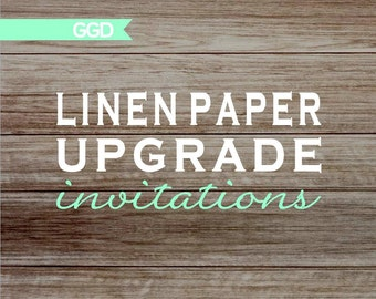 Linen Paper Upgrade for Printed Invitations