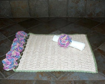 Crochet Pattern-Basket Weave Placemats