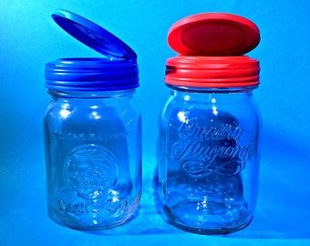 Rustic Mason Jar Flip Lid Kitchen Storage Container | Choose Your Ball Jar!  | Farmhouse Decor & Home Storage