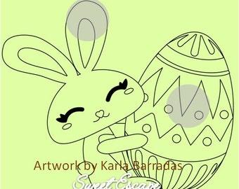 Digital Stamp: Easter Bunny