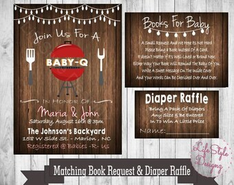 Baby q shower invitations etsy filmwisefo Image collections